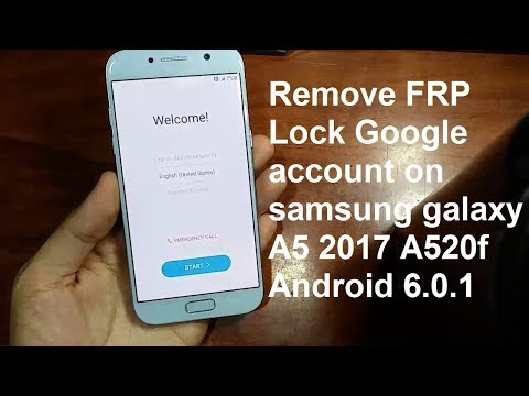 remove google account on samsung galaxy a5 2017 a520f android 6.0.1
