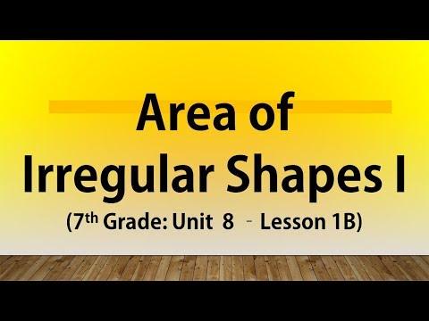 Area of Irregular Shapes I (7th Grade Unit 8 Lesson 1B)
