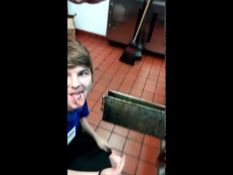 McDonalds Employee Wins 5 Bucks For Licking The Grease Trap