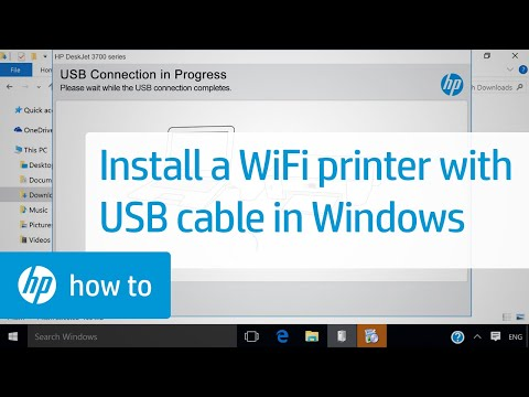 Installing a Wireless HP Printer With a USB Cable in Windows