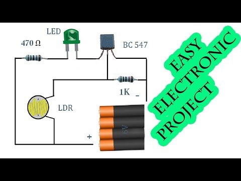 Learn How to Make Auto OnOff Switch, Sensor Lights, Light Sensor Project,  electronics projects