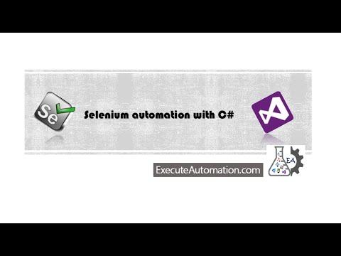 Creating Custom methods for Controls in Selenium (Part 1) -- Part 5 (Selenium automation with C#)