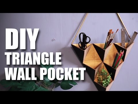 Triangle Wall Pocket | Room Decor DIY | Mad Stuff With Rob