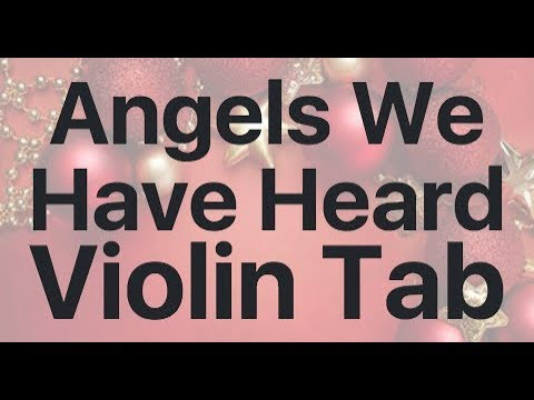 Learn Angels We Have Heard on High on Violin - How to Play Tutorial