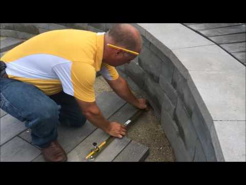 Scribing Pavers Up Against a Fixed Edge
