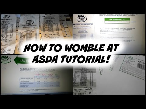 How to Womble at ASDA and Cash in Receipts!