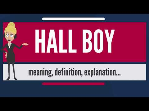 What is HALL BOY? What does HALL BOY mean? HALL BOY meaning, definition & explanation