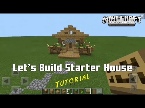 Minecraft PE  #1 | Let's Build Small House - Starter House Tutorial