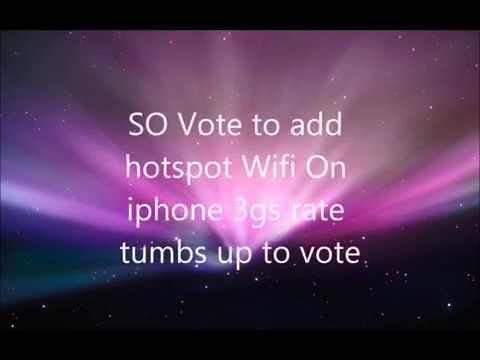 iphone 3gs Wifi Hotspot 'Ios 4.3'