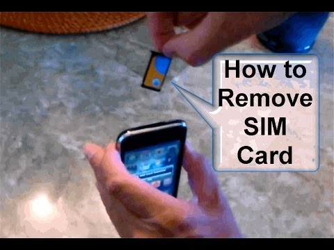 How to Remove SIM Card from iPhone 3G or 3Gs!!! - Free & Easy
