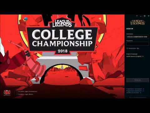 League of Legends College Championship 2018 Login Screen + Music