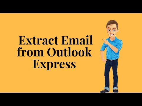 How to extract email from outlook express?