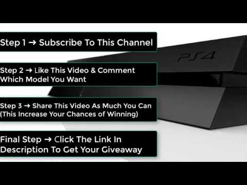 How To Get a Free PS4 Giveaway In 2017  Win a PS4, PS4 For Free, PS4 Giveaway  Free Playstation 4