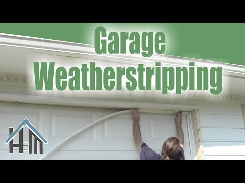 How to install replace garage door weatherstripping. Easy! Home Mender.