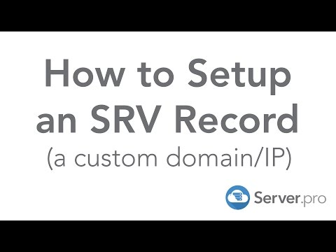 How to Setup an SRV Record (a custom domain/IP) - Server.pro
