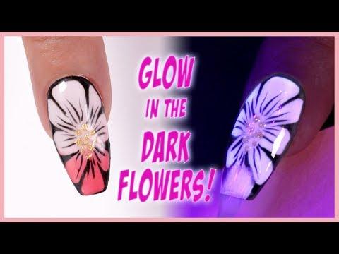 Ombre Glow Flower Nail Art Tutorial