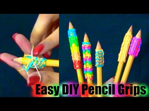DIY Pencil Grips for Back to School!-Super Easy