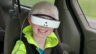 Legally blind boy sees the world clearly for 1st time