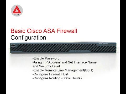 Basic Cisco ASA Firewall Configuration