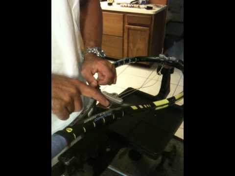 How to string a tennis racket - Part 1 of 7.