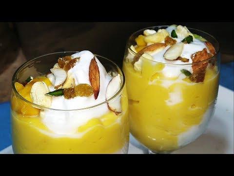 Mango Mastani Recipe - मेंगो मस्तानी -How to make mango mastani - Mango Recipes - Sangita Agarwal