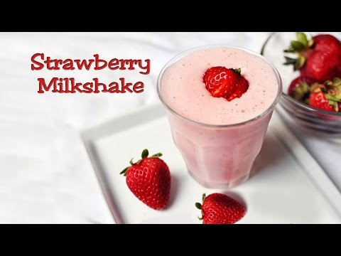 Recipe - Strawberry Milkshake (हिंदी)