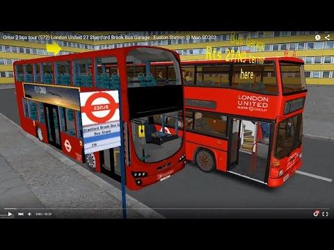 Omsi 2 tour (572) London bus 27 Stamford Brook Bus Garage - Euston Station @ Man SD202