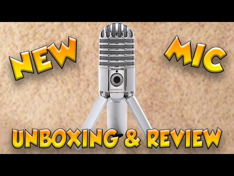 NEW MICROPHONE! (First One) | Unboxing & Review! | Samson Meteor