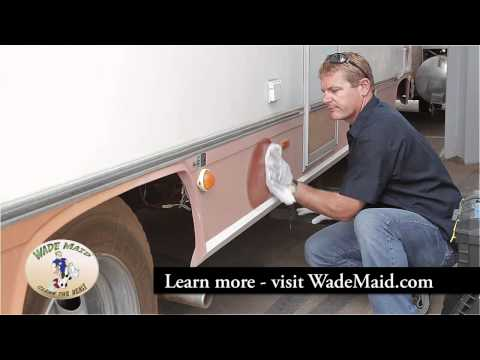 Restoring Faded RV Fiberglass Finish By Hand