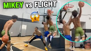 Flight CALLS OUT Mikey Williams & Then Gets DUNKED ON! Insane 1 vs 1 Battle BEFORE JUNE! 👀