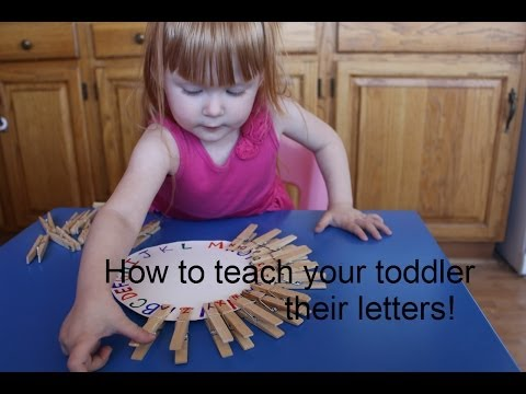 How to teach your toddler their letters! Matching activities! DIY!