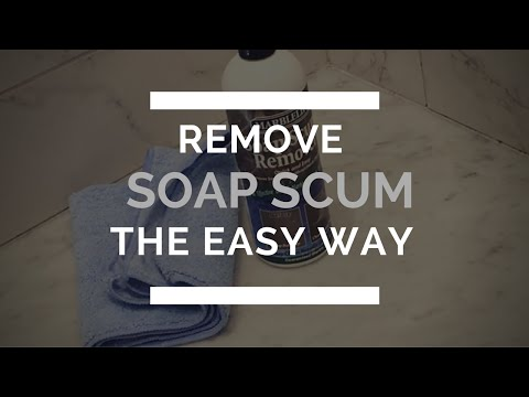 Remove Soap scum from marble the Easy Way!