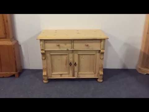 Small antique dresser base/cupboard - Pinefinders Old Pine Furniture Warehouse
