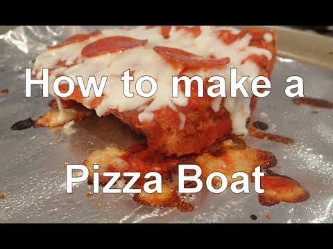 How to make a Pizza Boat (French Bread Pizza)
