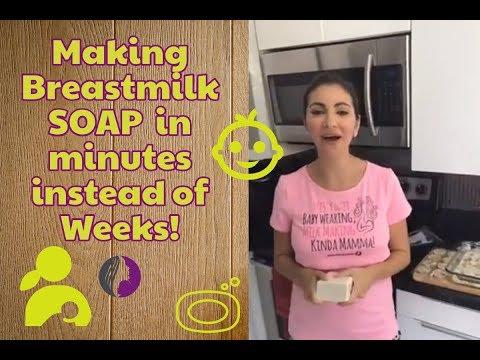 😲🤔Making Breastmilk SOAP 🛁 in minutes instead of Weeks!!😱🤔