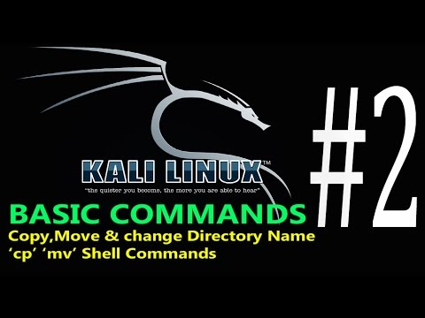 02-Kali Linux Command Line tutorial Copy Move or Change Directory Name; cp, mv |Commands  HINDI/URDU