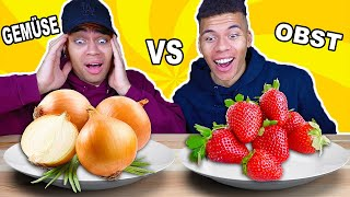 GEMÜSE VS OBST CHALLENGE !!! | Kelvin und Marvin
