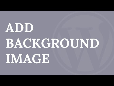 How to Add a Full Screen Background Image in WordPress