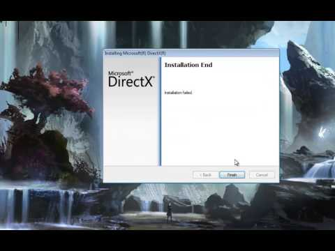 DirectX Internal System error refer to directx.log.(fix)