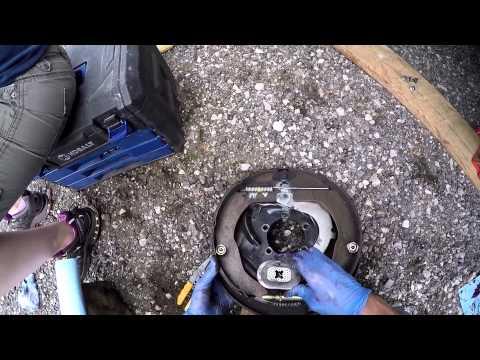 Electric Trailer Brake Replace First Person View & Narrative Full Job - Heartland Cyclone Toyhauler