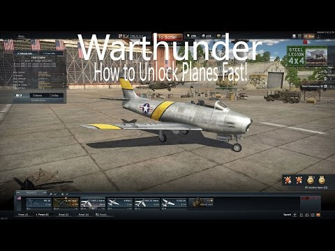 Warthunder- How to Grind Fast! Unlock Planes Quickly!