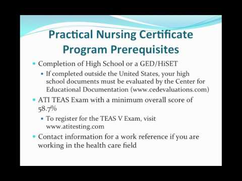 Practical Nursing Certificate Fall 2017