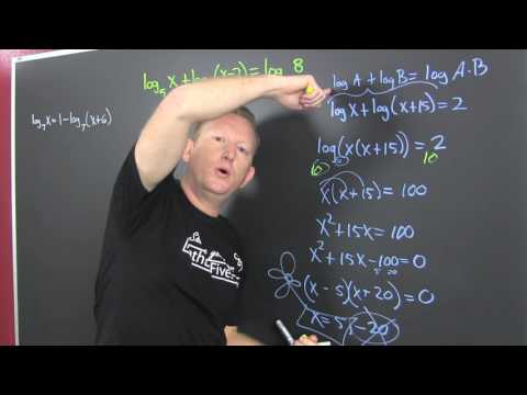 Solving logarithmic equations 3 examples