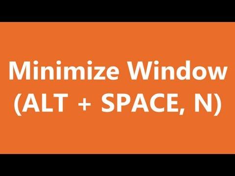 Excel Shortcuts - Minimize Window