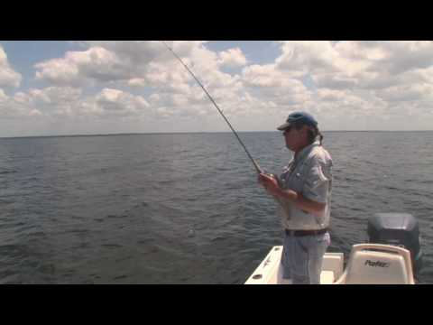 Fishing Florida's shallow water grass flats using artificial baits with Capt Pat McGriff.