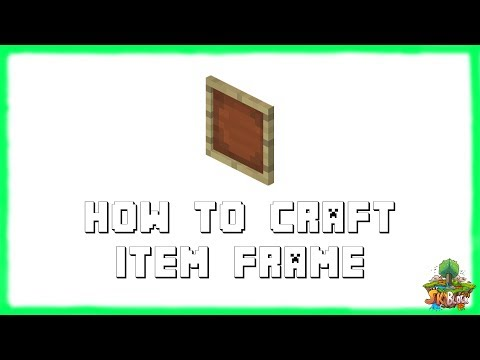 Minecraft 1.12.2: How to Make ITEM FRAMES! Recipe Tutorial for Minecraft Minecraft 1.12.2 | 2018