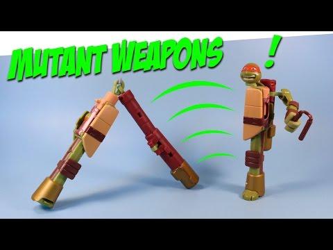Ninja Turtles Mutations Transformers Mikey into Nunchuks Weapons