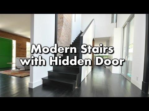Modern Stairs with a Hidden Closet