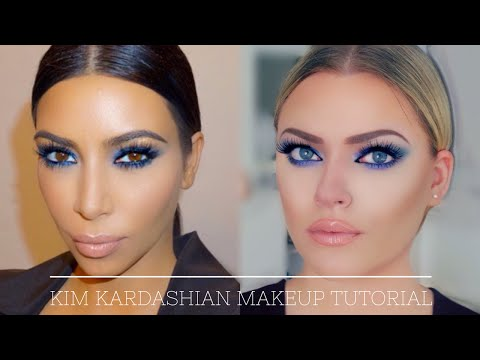 Kim Kardashian inspired Makeup Tutorial - Blue Smokey Eye (also for hooded eyes!)