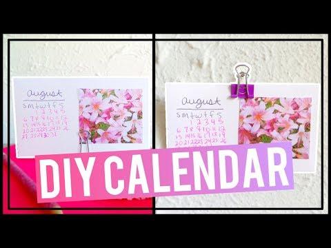 DIY Index Card Calendar | DIY Desk/Wall Calendar